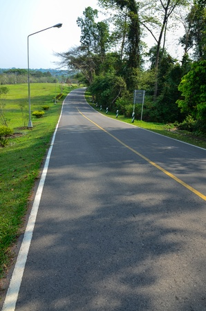 Winding Road in Thailand photo