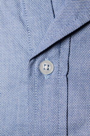 Close up buttons of man polo shirt