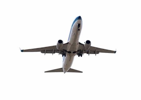 aviones pasajeros: Volar aviones de pasajeros aislados Foto de archivo