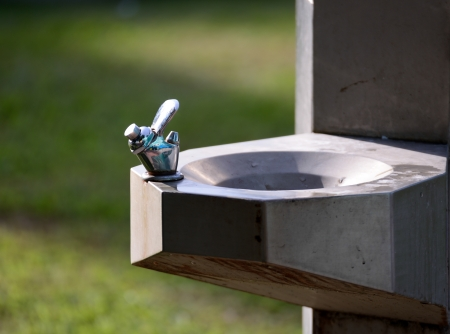 water tap in public park photo