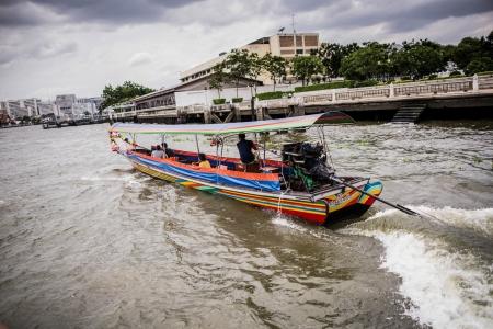 A taxi boat in Chao Praya River in Bangkok