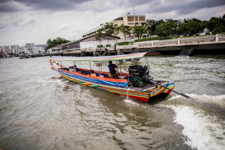 A taxi boat in Chao Praya River in Bangkok