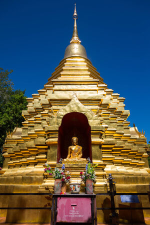 The golden stupa in PUN ON, chiang mai,thailand Stock Photo