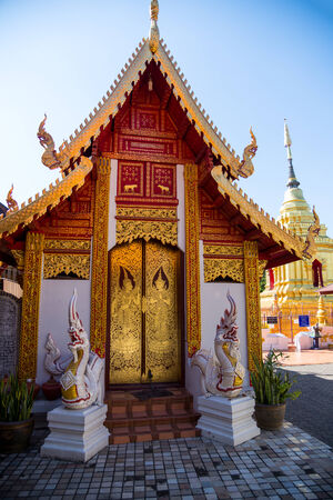 beautiful golden church tample in thailand