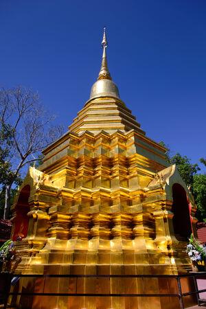 The golden stupa in PUN ON, chiang mai,thailand Stok Fotoğraf
