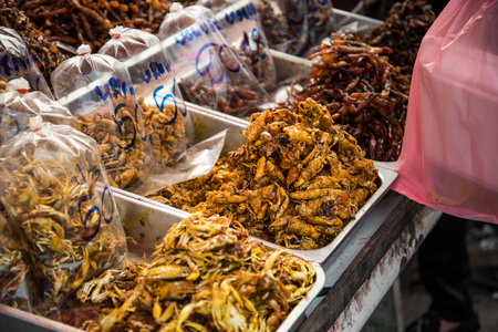very spicy squid beside the road of thailand Stok Fotoğraf