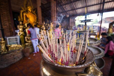 joss sticks at temple in Thailand