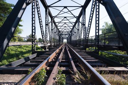 old bridge: old rail way bridge vintage