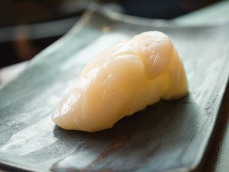 hotate: Hotate Scallop Sushi Stock Photo