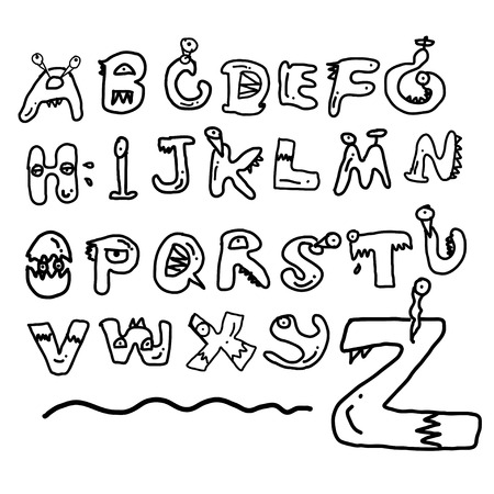 all caps: children alphabet spelled out