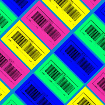 three dimensional accessibility: door background colourful