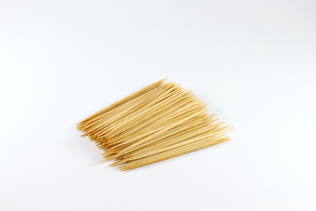 Many of the toothpick on a white background photo