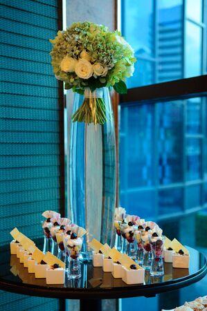 Cocktail Set in Wedding ceremony Stock Photo