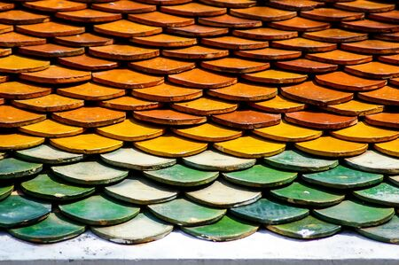 Colorful roof pattern, texture, background Stock Photo