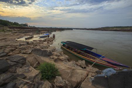 khong river: Sampanbok khong river Stock Photo