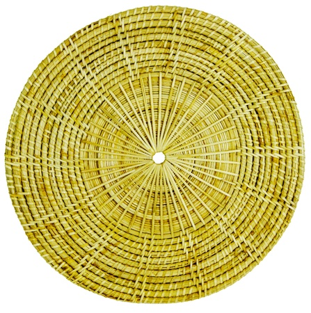 Products are handmade from wood, rattan Stock Photo