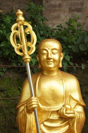 chinese buddha: Chinese Buddha statue, Buddhism. Stock Photo