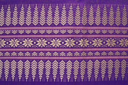 Pattern of old thai native cloth photo