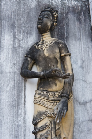 Sculpture, monuments, temples in Thailand. photo