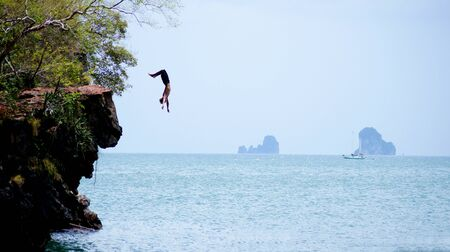 Cliff jumping, sports