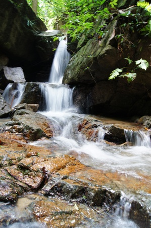 The small waterfall and rocks, thailand photo