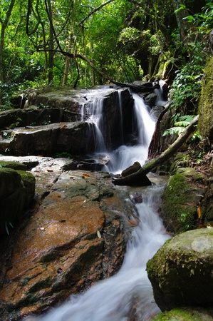 The small waterfall and rocks, thailand Stock Photo - 12381019