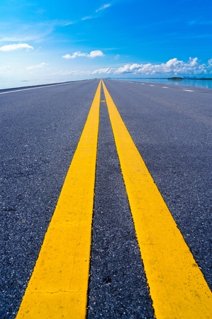Empty road to the sky  photo