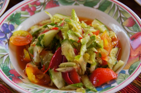 Cucumber salad, Thai food Stock Photo - 13802904