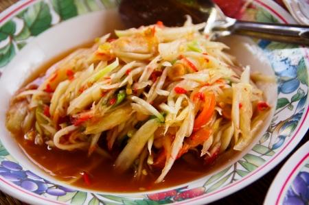 Papaya salad, Thai Food  photo