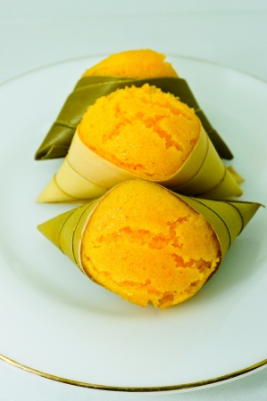 Thai sweets On white background photo