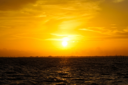 Sunset at Southern Lake Thailand