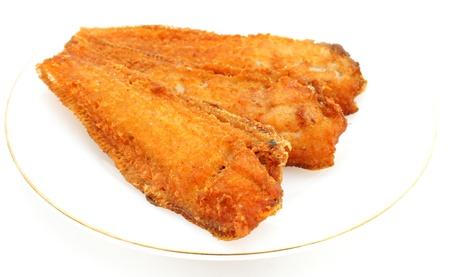 isolated fried fish photo
