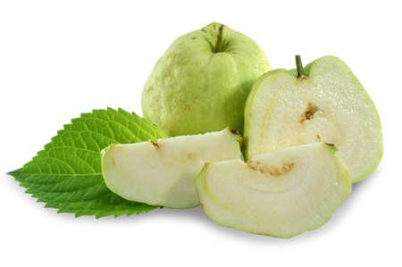 dietetical: Guavas on white background  No seeds species