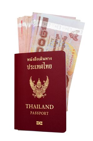 Thai passport and Thai money . Stock Photo - 15761772