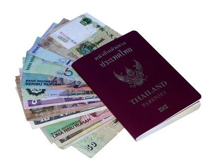 Money and passport Stock Photo - 15761790