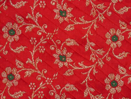 Red Thai woven fabrics Stock Photo - 15857547