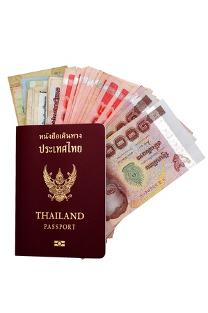 Thai passport and Thai money . Stock Photo - 16151744