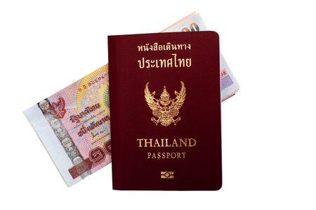 Thai passport and Thai money . Stock Photo - 16151733