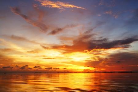 sunset sky, thailand. Stock Photo