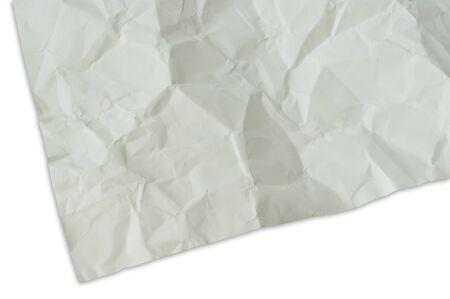 crinkles: Wrinkled paper Stock Photo