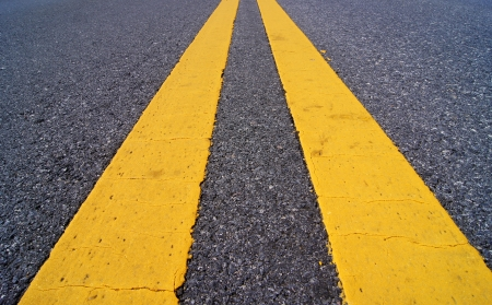 road marking: Traffic lines. Stock Photo