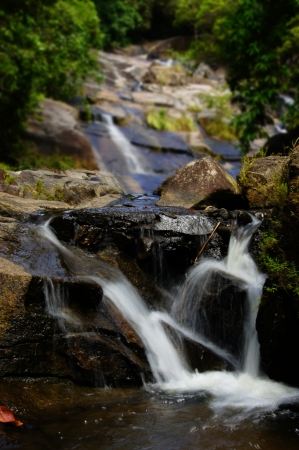 The small waterfall and rocks, thailand Stock Photo - 16563533