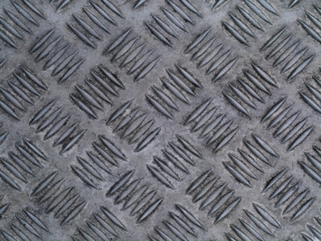 Old stainless steel floor. photo