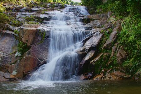waterfall and rocks, Thailand photo