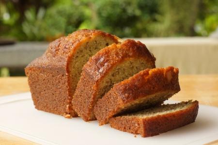 slice cake: torta di banana Archivio Fotografico