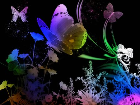 spring night abstract background color photo