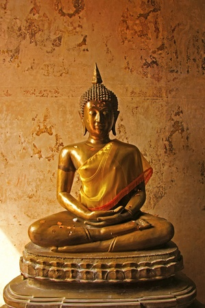 Ancient Buddha statue in Thailand temple more than 200 years old. photo