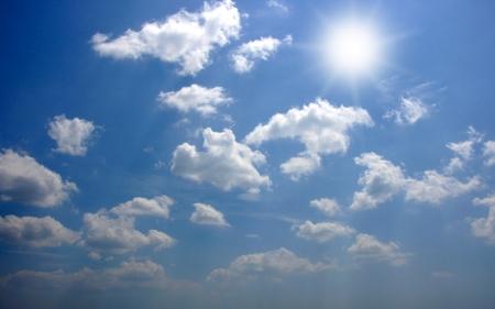 cloude: Sun sky and cloude Stock Photo