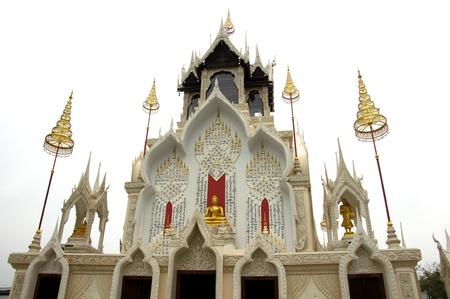 obudził: Thai Å›wiÄ…tyni w Phetchaburi w Tajlandii Zdjęcie Seryjne