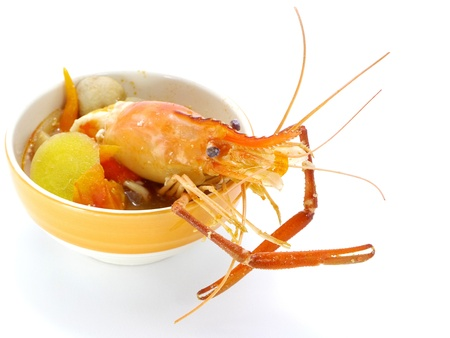 Thai Food Tom Yum Goong, Lobster soup. Stock Photo - 18662961